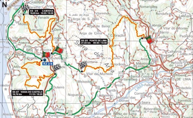 mapa do rali de portugal 2015 Provas e Treinos Rally de Portugal 2015 (Ponte de Lima/ Caminha e  mapa do rali de portugal 2015
